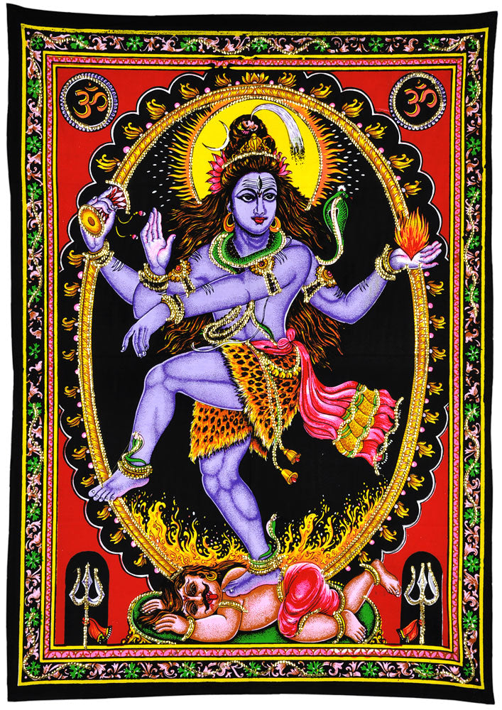 The Cosmic Dancer 'Nataraja' Cotton Painting