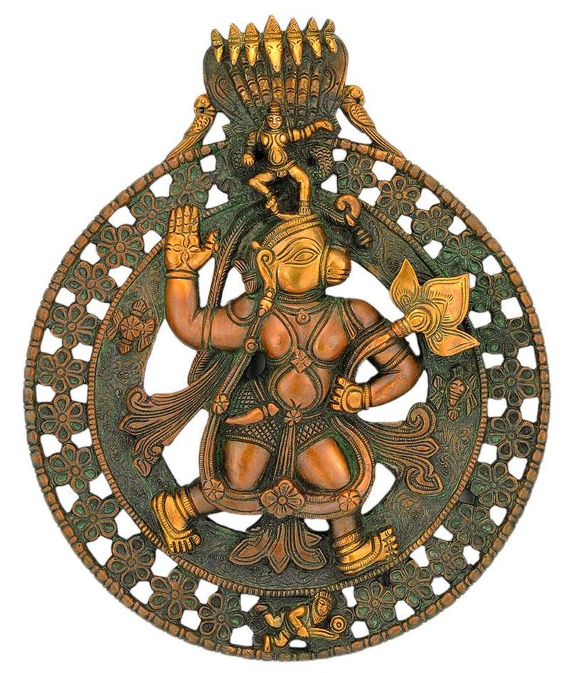 Lord Hanuman Brass Wall Hanging