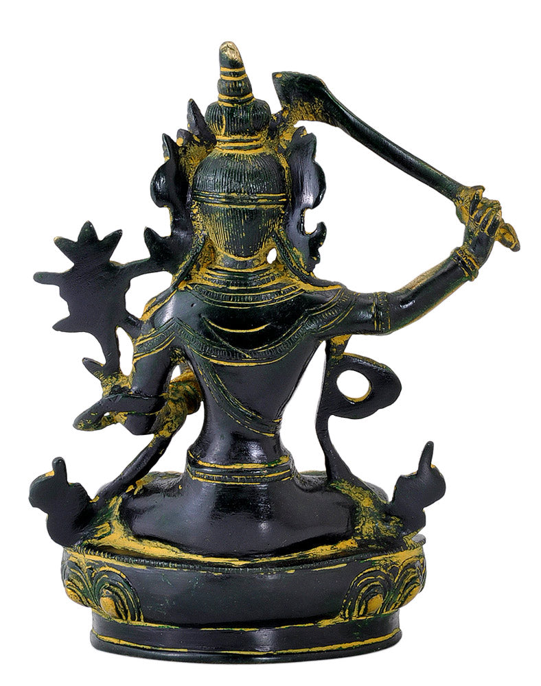 Lord Manjushree Brass Sculpture