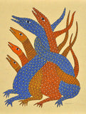 Inhabitants of Jungle - Gond Painting