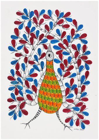 Song of Spring - Gond Tribal Art Painting