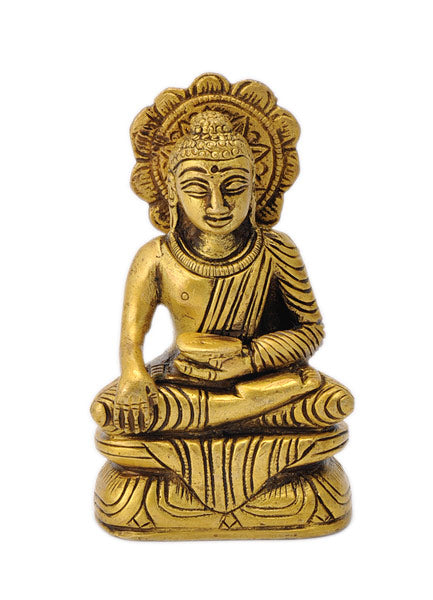 Buddha with Bowl Small Figurine 3.75""