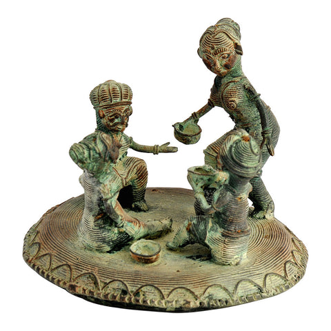Tribal Art Statuette 'Feast Time'