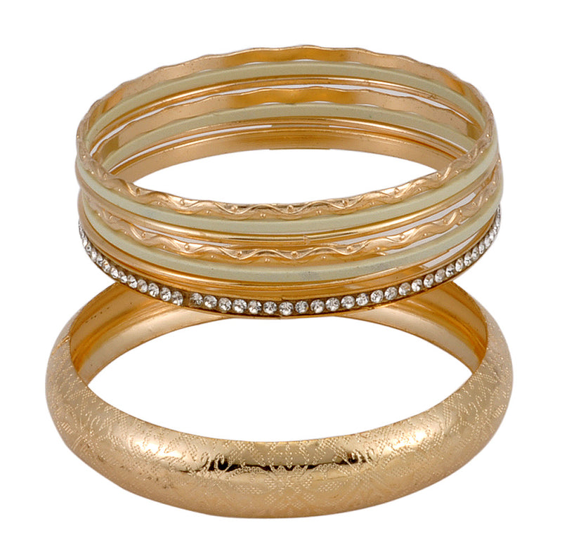 Golden Beige Bracelet and Bangles Set