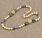 """Golden Shine"" Shell Pearl Necklace"