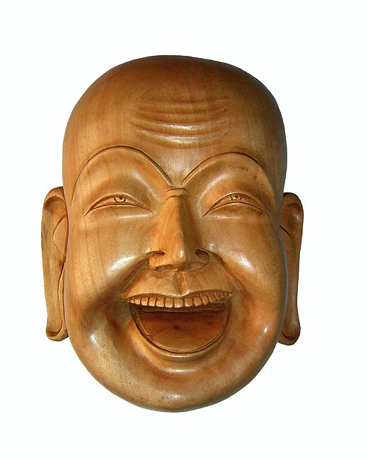 Happy Buddha-Wood Mask