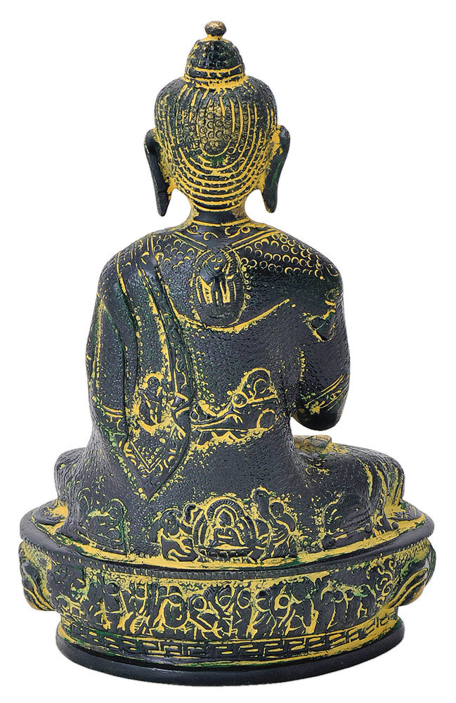 Buddha Dharmachakra Mudra Statue in Old Finish 8""