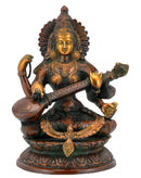 Mata Saraswati Plays Veena