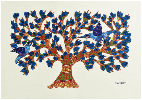 Tree of Joy - Tribal Gond Painting