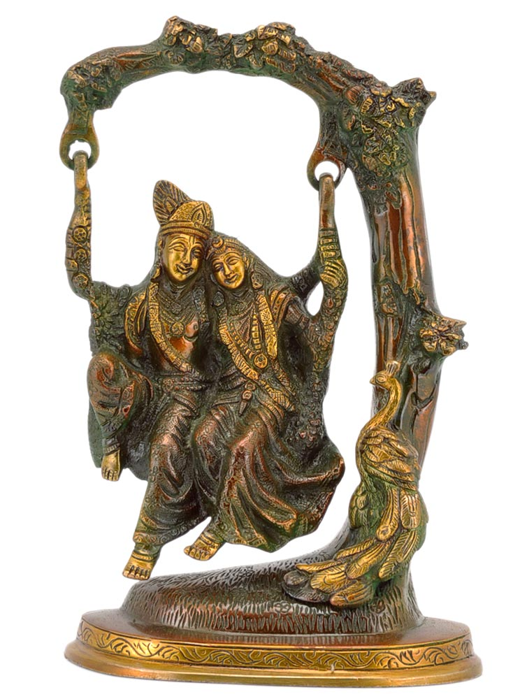 Radha Krishna on a Swing