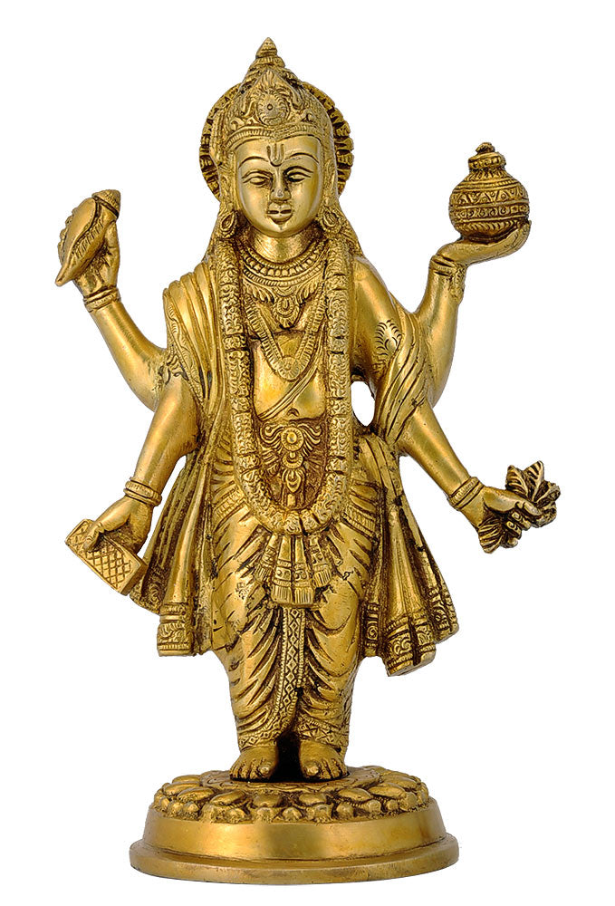 Lord Dhanavantri Brass Statue