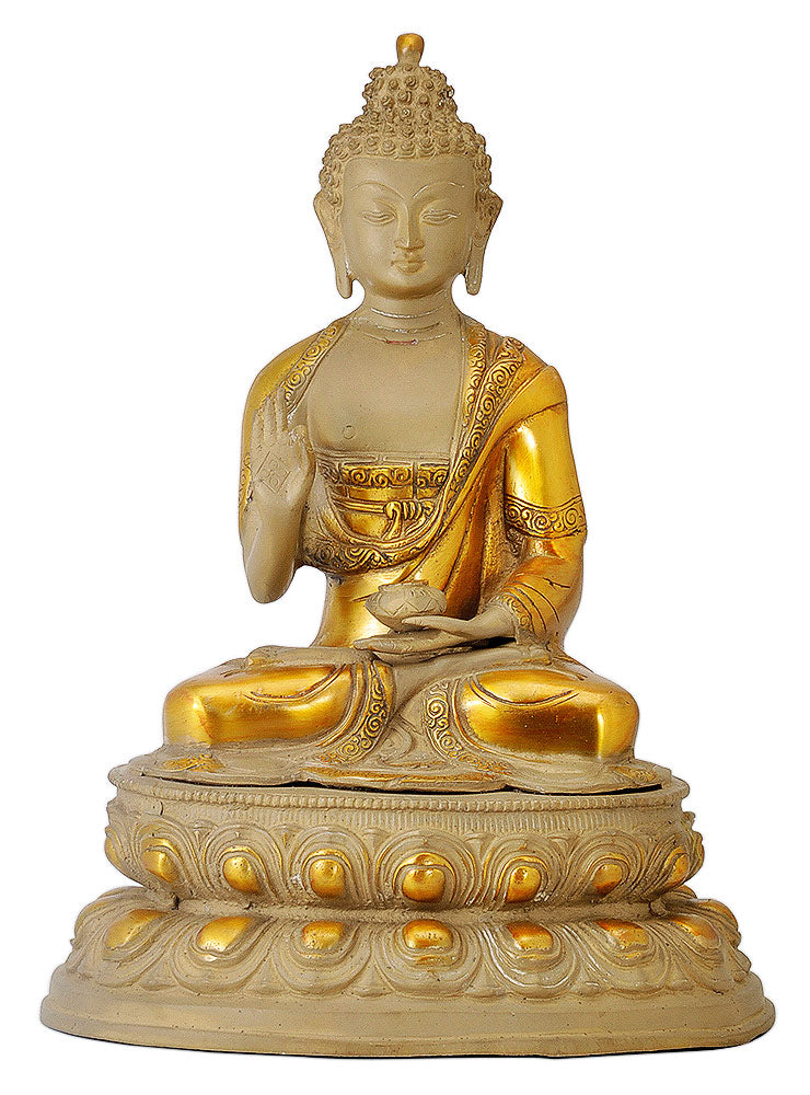 Vitarka Mudra Buddha on Lotus Base