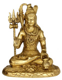 Blessing Shiva Brass Figure 10.25""