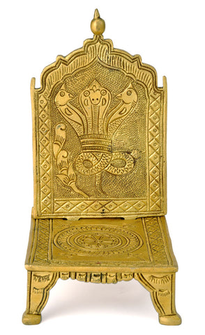 Brass Carving Ritual Seat for Deity