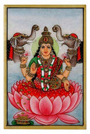 Laxmi & Ganesha - Set of 2 Marble Paintings