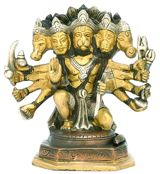 Blessing Hanumanji - Brass Sculpture