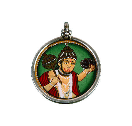 Beloved Hanuman - Hand Painted Pendant