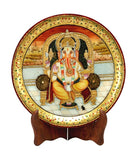 Seated Ganesha-Painted Marble Saucer