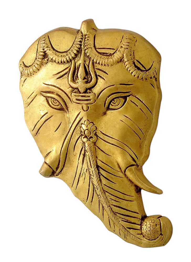 Brass Leaf Ganesha Wall Hanging