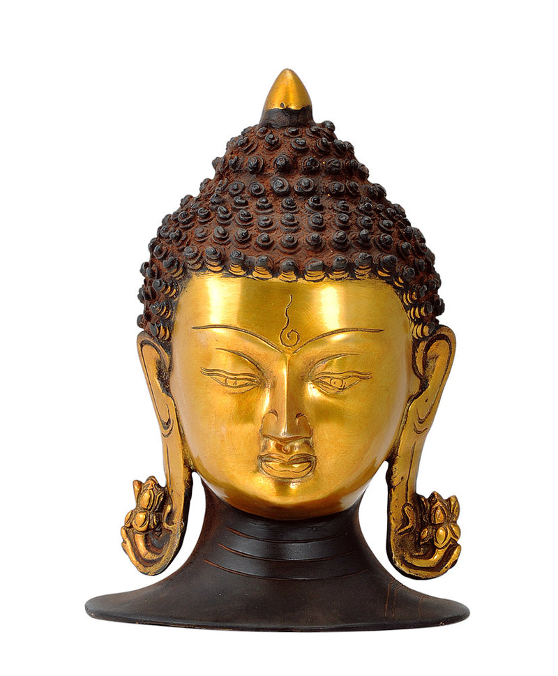 Golden Buddha Head in Old Rustic Finish