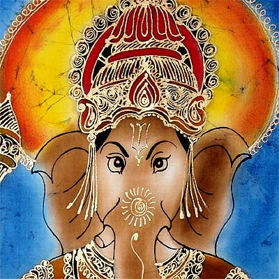 Everyone's Favourite 'Lord Ganesh' - Batik Painting