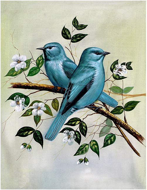 """Birds"" Silk Painting - II"