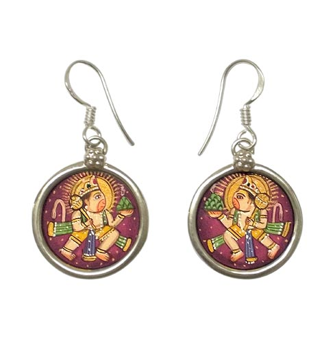 Lord Pawan Putra Hanuman -  Earrings