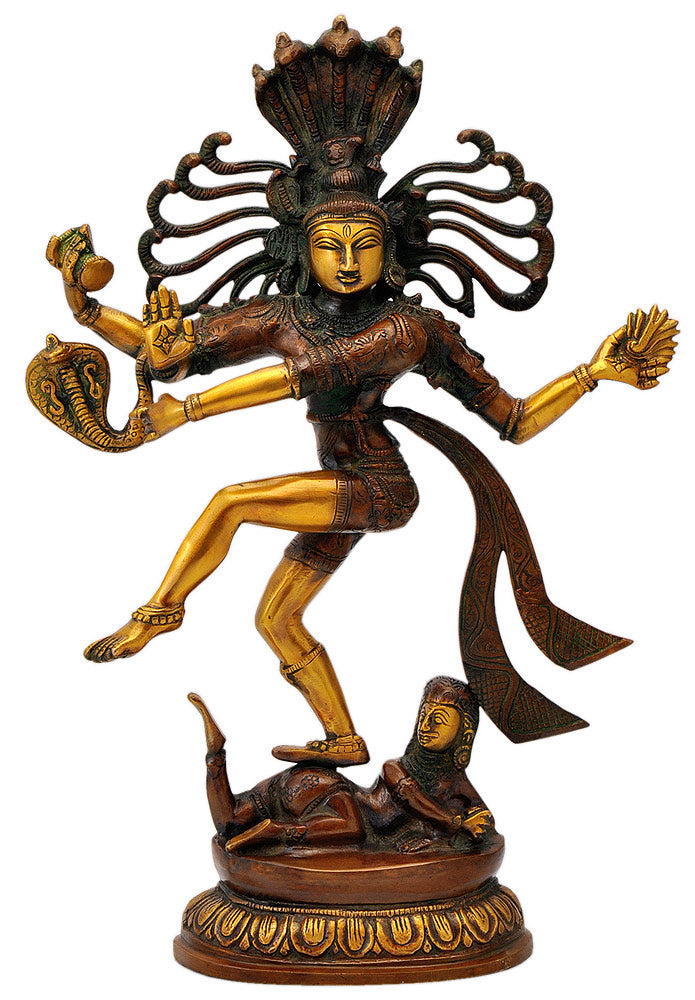 Unique Lord Nataraja Figurine with Shesh Naga Hood 17.50""