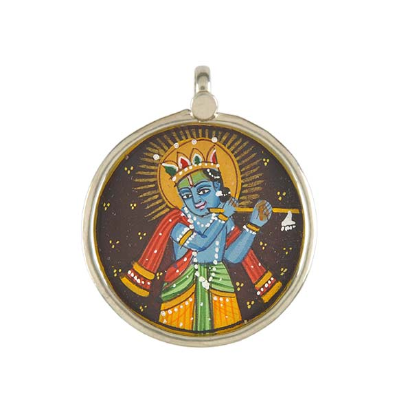 Lord Madan Mohan - Hand Painted Pendant