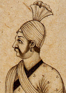 Maharaja-Mugal Miniature Painting 7""