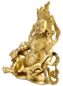Lord of Wealth 'Kubera' Brass Sculpture