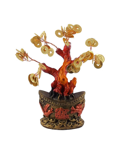Feng Shui Golden Coin Money Tree for Wealth and Abundance