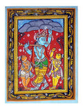 Lord of Gobardhan Hill - Paata Painting