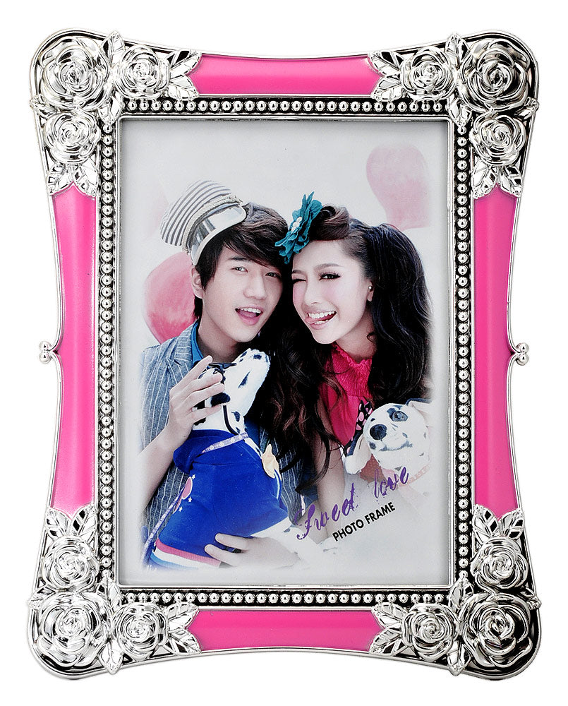 Acrylic Silver Pink Photo Frame