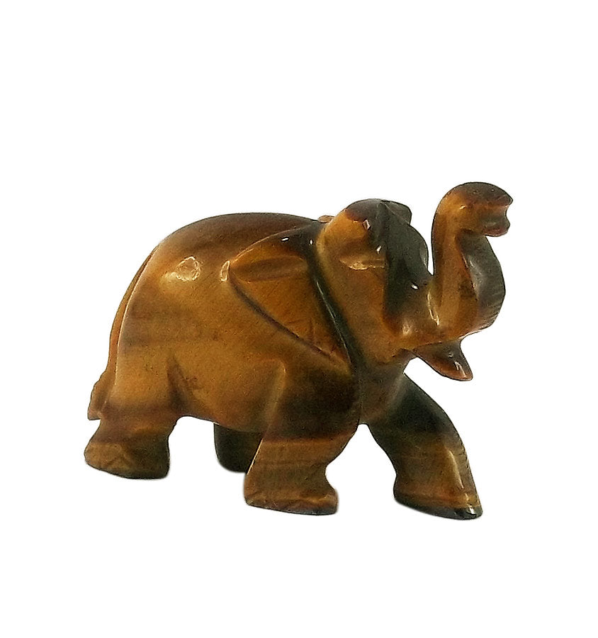 Tiger Eye Stone 'Saluting Elephant' 1.5""