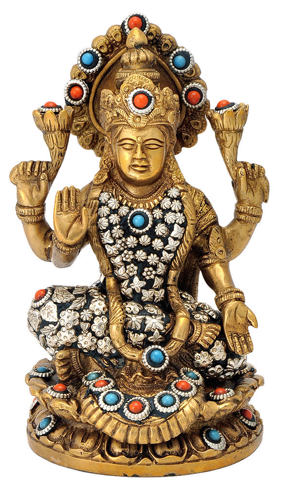Seated Goddess Lakshmi Ma