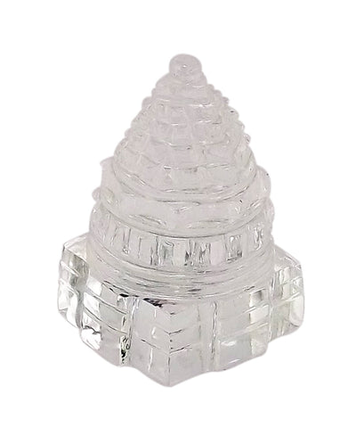 Shri Yantra - Carved in Quartz Crystal 1.75""