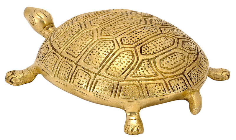 Auspicious Tortoise with Panchadasi Yantra Engraved on Bottom