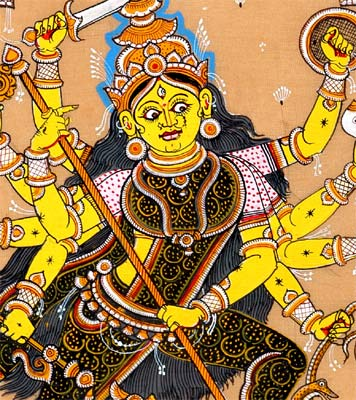The Unconquerable Devi As Mahishsur Mardini