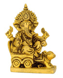 Lord Ganesha Seated on Mouse Chariot