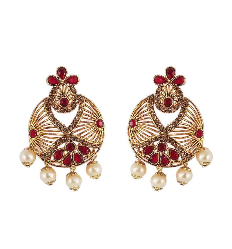 Pleasing Gold Beautiful Earrings for Girls and Womens