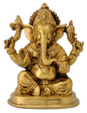 Lord Ganesha Brass Figure