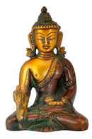 Small Medicine Budha Brass Statuatte