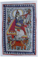 Indian Folk Painting-Krishna