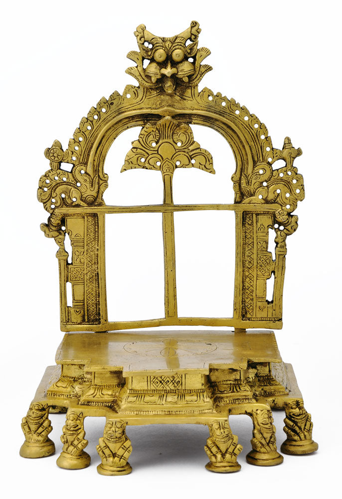 Craved Brass Traditional Ritual Seat for God