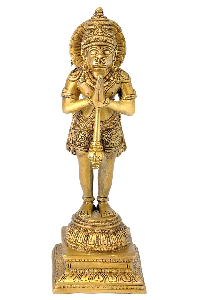 Devotee Lord Hanuman - Brass Sculpture