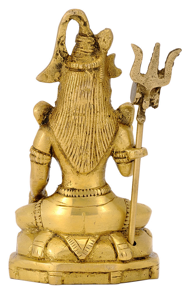 Blessing God Shiva Brass Statue