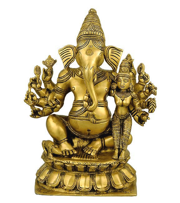 Lord Ganesha with Mother Goddess Lakshmi 10""