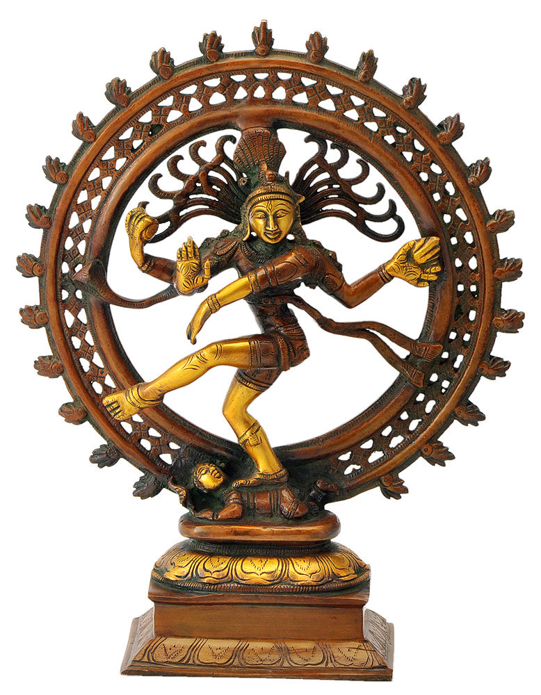 Beautiful Lord Nataraja Golden Brown Finish