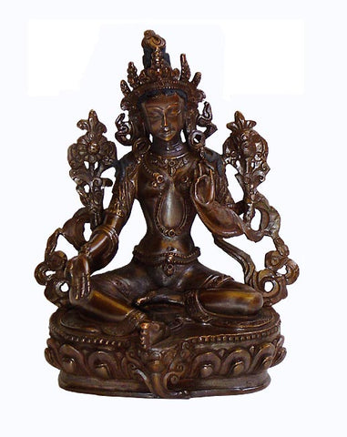 Green Tara-Lost Wax Scuplture 6""